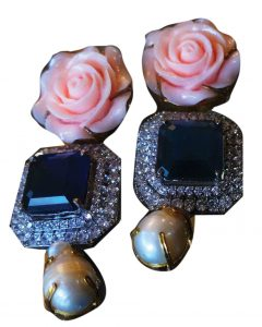 ALLURE BY MHT Rose Earrings, Price Upon request