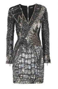 BALMAIN Embellished Tulle and Satin Dress, PKR 400,000 neta