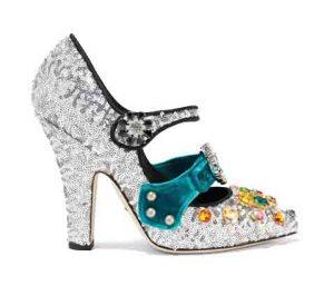 DOLCE & GABBANA Embellished Mary Jane Pumps, PKR 130,000 neta
