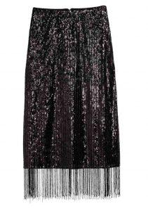 H&M Calf-Length Sequined Skirt, PKR 7,000