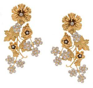 JENNIFER BEHR Flower Clip-On Earrings, PKR 65,000 farfetch.com