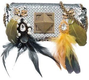 SONIA RYKIEL Sequin Feather Detail Bag, PKR 83,000 farfetch.com