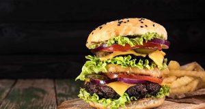 Big juicy hamburger
