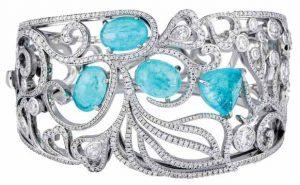 BOODLES Tourmaline & Diamond Cuff