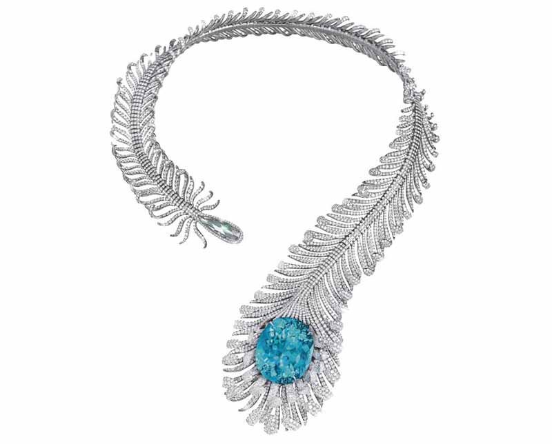 MOUSSAIEFF-Feather-Necklace Tourmaline Necklace