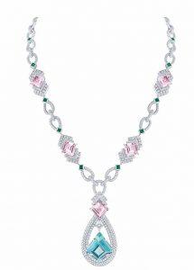LOUIS VUITTON Morganite, Diamonds, Emeralds and Tourmaline Necklace