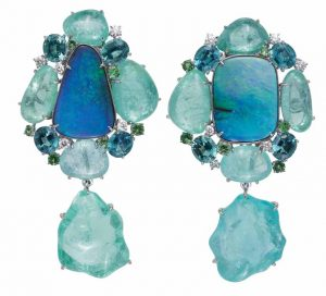 MARGOT MCKINNEY Opal and Tourmaline Earrings