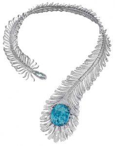 MOUSSAIEFF Feather Necklace Tourmaline Necklace