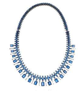 NAM CHO Sapphire Baguette Necklace