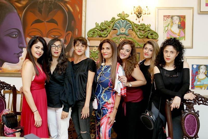 Maria Wasti,Sara Ali, Sadaf Malaterre, Frieha Altaf, Sarah Khan,Sanam Agha and Angeline Malik