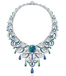 CHOW TAI FOOK Opal, Diamond and Sapphire Necklace