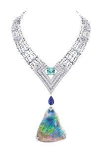 LOUIS VUITTON Opal and Diamond Necklace