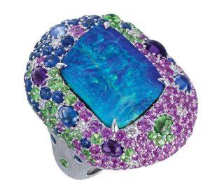 MARGOT MCKINNEY Opal and Multi Coloured Gemstones Ring