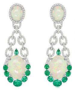 SUTRA WELO Opal, Emerald & Diamond Earrings