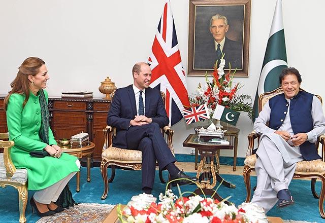 prince william, kate middleton & imran khan