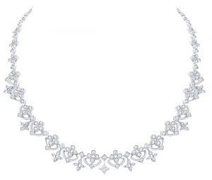 LOUIS VUITTON Diamond Flowers & Stars Necklace