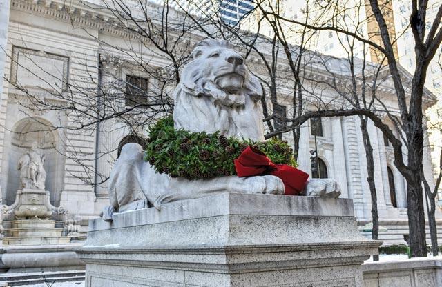 Stone lion, New York.
