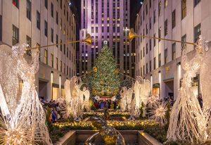 Christmas tree at Rockefeller Center in Manhattan, New York City
