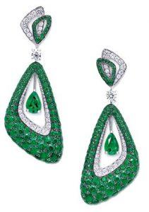 GRAFF Luna Emerald Earrings get your green jewellery