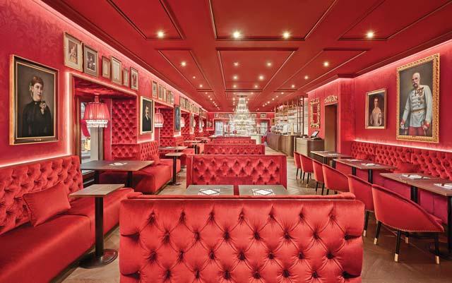 The lavish Sacher Eck Café