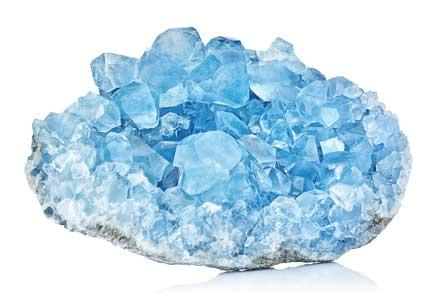 Sky Blue Celestine Crystal Stone macro mineral gemstone