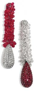 Diamond & Ruby Earrings