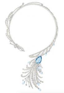 BOUCHERON Diamond & Aquamarine Necklace